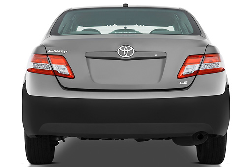 AUT 45 IZ0023 01 © Kimball Stock 2011 Toyota Camry LE Gray Rear View Studio