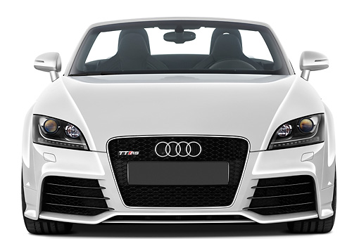 AUT 45 IZ0110 01 © Kimball Stock 2013 Audi TT RS Convertible White Front View Studio