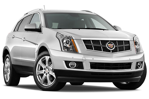 AUT 45 IZ0123 01 © Kimball Stock 2011 Cadillac SRX Performance Silver 3/4 Front View Studio