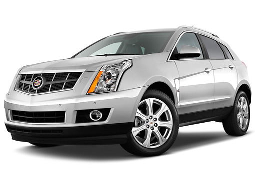 AUT 45 IZ0124 01 © Kimball Stock 2011 Cadillac SRX Performance Silver 3/4 Front View Studio