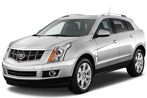 AUT 45 IZ0125 01 © Kimball Stock 2011 Cadillac SRX Performance Silver 3/4 Front View Studio