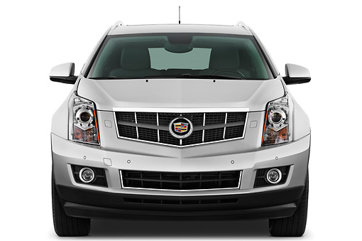 AUT 45 IZ0127 01 © Kimball Stock 2011 Cadillac SRX Performance Silver Front View Studio
