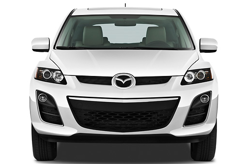 AUT 45 IZ0175 01 © Kimball Stock 2011 Mazda CX7i Sport White Front View On White Seamless
