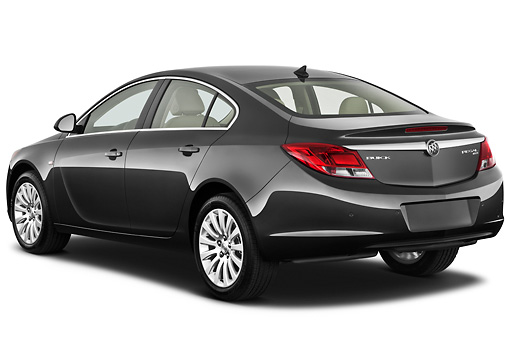 AUT 46 IZ0006 01 © Kimball Stock 2013 Buick Regal CXL Sedan Gray 3/4 Front View On White Seamless