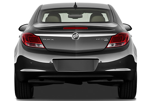 AUT 46 IZ0008 01 © Kimball Stock 2013 Buick Regal CXL Sedan Gray Rear View On White Seamless