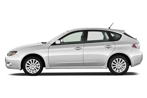 2011 Subaru Impreza Wagon 25i Premium White Profile View On White