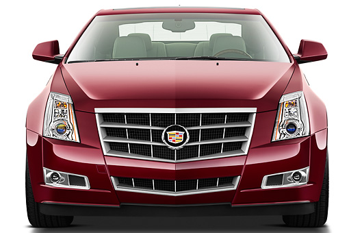 AUT 46 IZ0068 01 © Kimball Stock 2013 Cadillac CTS Coupe Premium Red Front View On White Seamless
