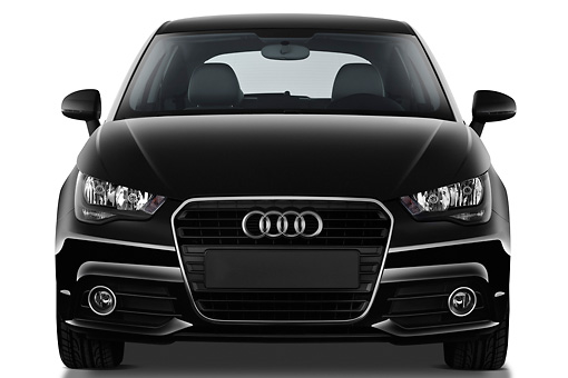AUT 46 IZ0149 01 © Kimball Stock 2013 Audi A1 3 Door Hatchback Black Front View On White Seamless