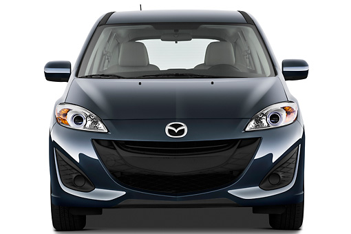 AUT 48 IZ0047 01 © Kimball Stock 2012 Mazda Mazda5 Sport Teal Front View On White Seamless