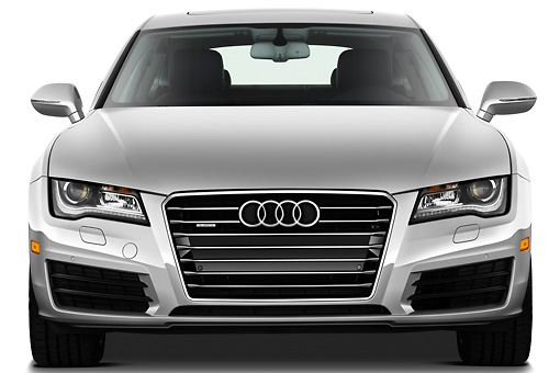 AUT 48 IZ0075 01 © Kimball Stock 2015 Audi A7 Silver Front View On White Seamless