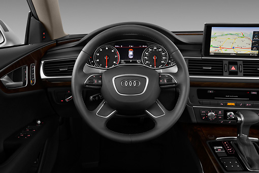 AUT 48 IZ0080 01 © Kimball Stock 2013 Audi A7 Silver Interior Detail In Studio