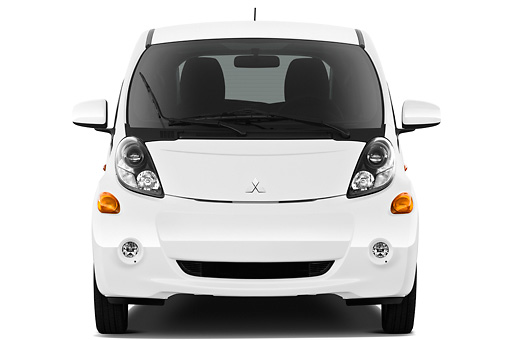 AUT 48 IZ0112 01 © Kimball Stock 2012 Mitsubishi MiEV SE White Front View On White Seamless
