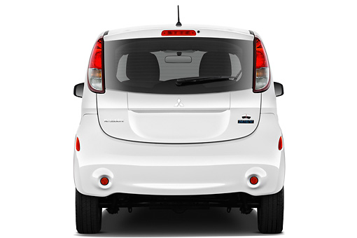 AUT 48 IZ0113 01 © Kimball Stock 2012 Mitsubishi MiEV SE White Rear View On White Seamless