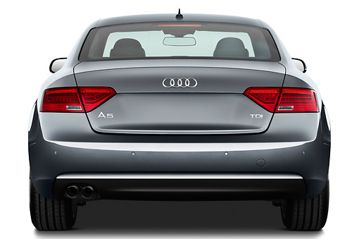 AUT 48 IZ0157 01 © Kimball Stock 2012 Audi A5 S Line Coupe Blue Rear View On White Seamless