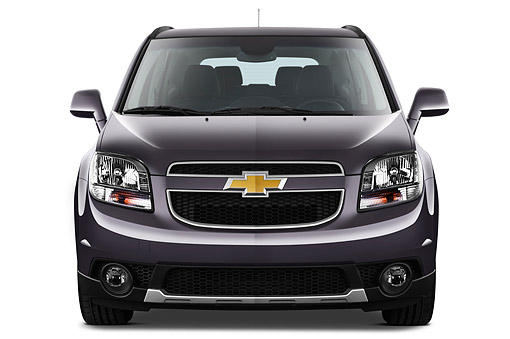 AUT 49 IZ0038 01 © Kimball Stock 2013 Chevrolet Orlando LTZ+ MPV Purple Front View On White Seamless