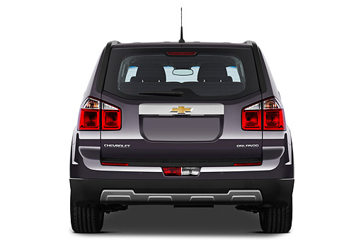 AUT 49 IZ0039 01 © Kimball Stock 2013 Chevrolet Orlando LTZ+ MPV Purple Rear View On White Seamless