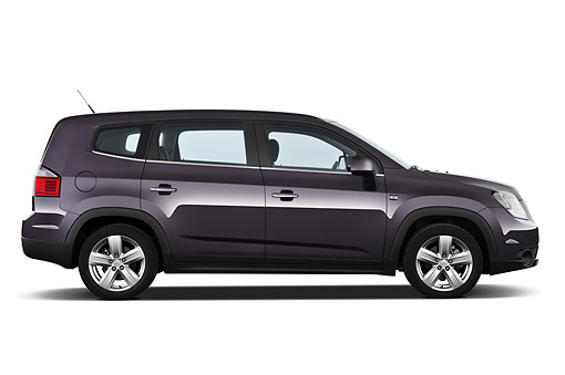 AUT 49 IZ0040 01 © Kimball Stock 2013 Chevrolet Orlando LTZ+ MPV Purple Profile View On White Seamless
