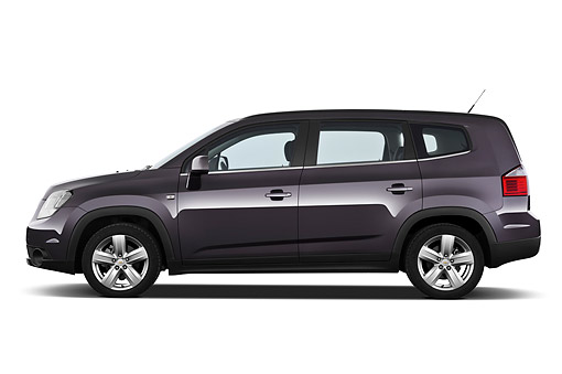 AUT 49 IZ0041 01 © Kimball Stock 2013 Chevrolet Orlando LTZ+ MPV Purple Profile View On White Seamless