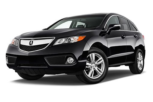 AUT 50 IZ0026 01 © Kimball Stock 2015 Acura RDX Technology Package 5-Door SUV Black 3/4 Front View In Studio