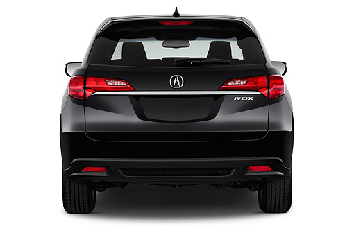 AUT 50 IZ0027 01 © Kimball Stock 2015 Acura RDX Technology Package 5-Door SUV Black Rear View In Studio