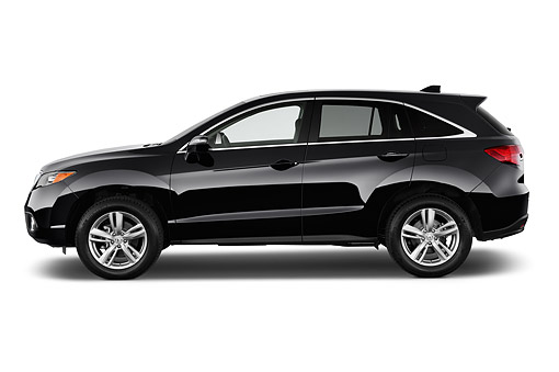 AUT 50 IZ0028 01 © Kimball Stock 2015 Acura RDX Technology Package 5-Door SUV Black Profile View In Studio