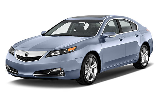 AUT 50 IZ0036 01 © Kimball Stock 2014 Acura TL 3.5 Advance Package 4-Door Sedan 3/4 Front View In Studio