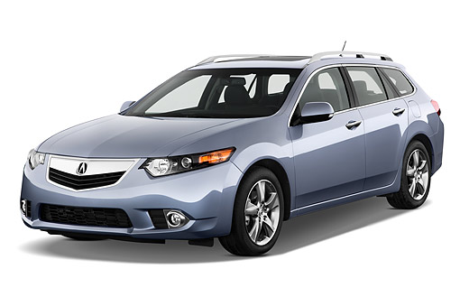 AUT 50 IZ0050 01 © Kimball Stock 2014 Acura TSX Sport Wagon Technology Package 5-Speed Automatic 4-Door 3/4 Front View In Studio