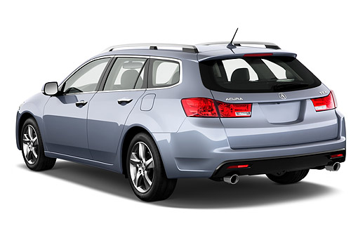 AUT 50 IZ0051 01 © Kimball Stock 2014 Acura TSX Sport Wagon Technology Package 5-Speed Automatic 4-Door 3/4 Rear View