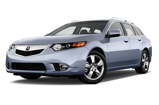 AUT 50 IZ0054 01 © Kimball Stock 2014 Acura TSX Sport Wagon Technology Package 5-Speed Automatic 3/4 Front View In Studio