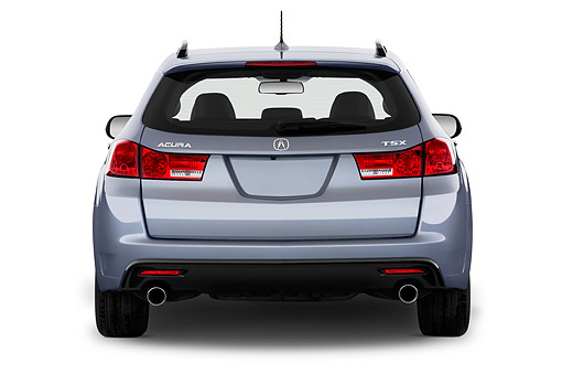 AUT 50 IZ0055 01 © Kimball Stock 2014 Acura TSX Sport Wagon Technology Package 5-Speed Automatic Rear View In Studio