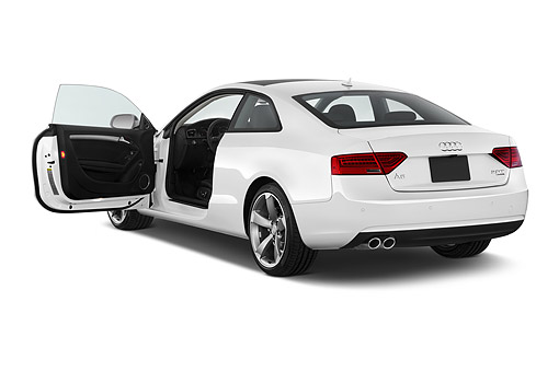AUT 50 IZ0059 01 © Kimball Stock 2014 Audi A5 2.0t Quattro Manual Premium 2-Door Coupe 3/4 Rear In Studio