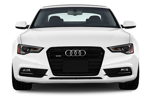 AUT 50 IZ0060 01 © Kimball Stock 2014 Audi A5 2.0t Quattro Manual Premium 2-Door Coupe Front In Studio