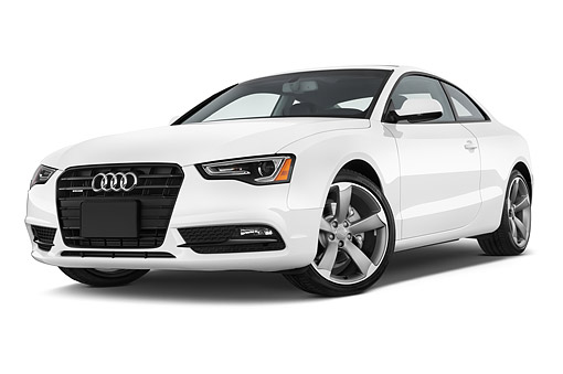 AUT 50 IZ0061 01 © Kimball Stock 2014 Audi A5 2.0t Quattro Manual Premium 2-Door Coupe 3/4 Front In Studio