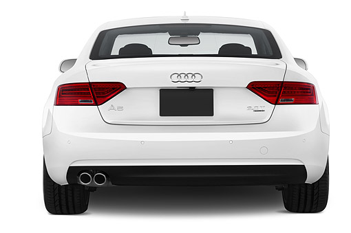 AUT 50 IZ0062 01 © Kimball Stock 2014 Audi A5 2.0t Quattro Manual Premium 2-Door Coupe Rear In Studio