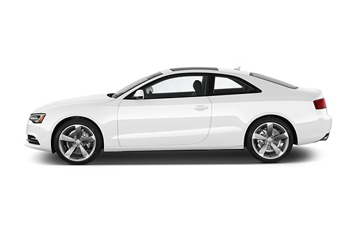 AUT 50 IZ0063 01 © Kimball Stock 2014 Audi A5 2.0t Quattro Manual Premium 2-Door Coupe Profile View In Studio