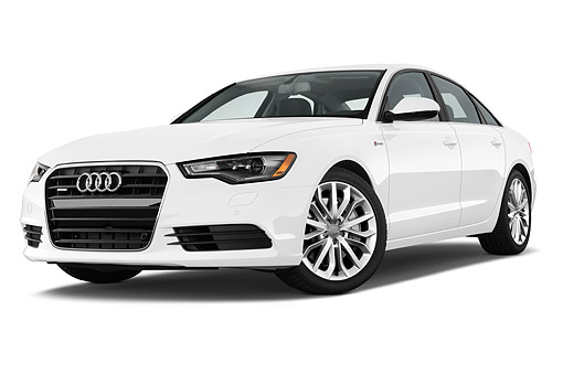 AUT 50 IZ0068 01 © Kimball Stock 2014 Audi A6 3.0t Quattro Tiptronic Premium 4-Door Sedan 3/4 Front View In Studio