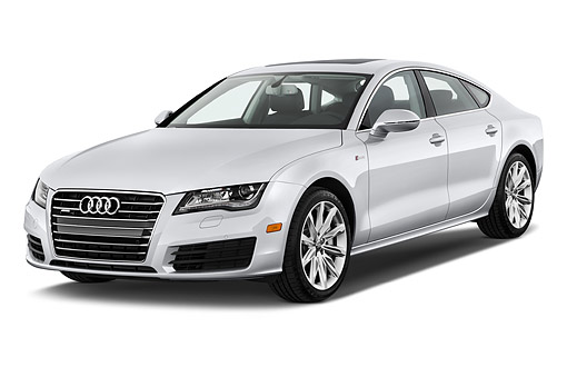 AUT 50 IZ0071 01 © Kimball Stock 2014 Audi A7 3.0t Quattro 4-Door Sedan 3/4 Front View In Studio