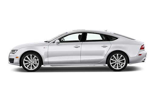 AUT 50 IZ0077 01 © Kimball Stock 2014 Audi A7 3.0t Quattro 4-Door Sedan Profile View