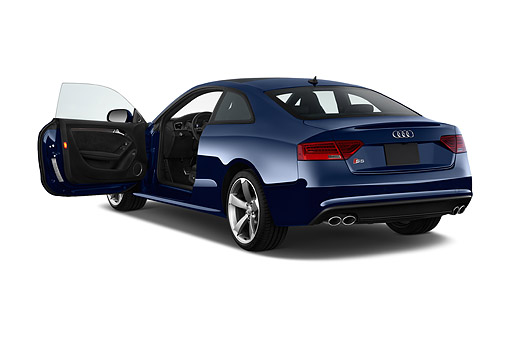 AUT 50 IZ0107 01 © Kimball Stock 2014 Audi S5 4.2 Quattro Tiptronic Premium Plus Coupe 2-Door 3/4 Rear View In Studio