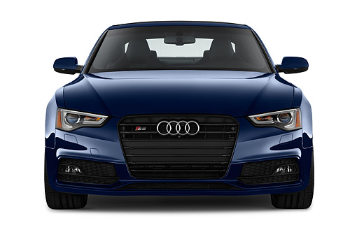 AUT 50 IZ0108 01 © Kimball Stock 2014 Audi S5 4.2 Quattro Tiptronic Premium Plus Coupe 2-Door Front View In Studio