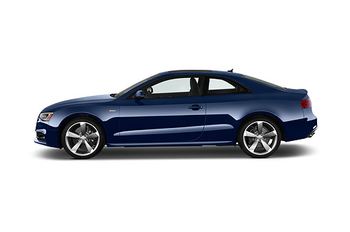 AUT 50 IZ0111 01 © Kimball Stock 2014 Audi S5 4.2 Quattro Tiptronic Premium Plus Coupe 2-Door Profile View In Studio