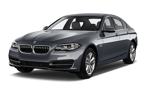 AUT 50 IZ0126 01 © Kimball Stock 2015 BMW 5 Series 528i Sedan 4-Door 3/4 Front View In Studio