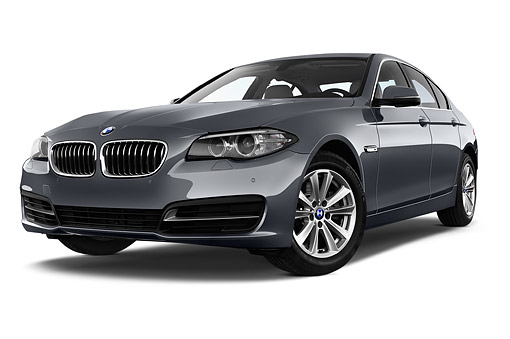 AUT 50 IZ0130 01 © Kimball Stock 2015 BMW 5 Series 528i Sedan 4-Door 3/4 Front View In Studio