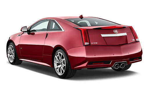 AUT 50 IZ0197 01 © Kimball Stock 2015 Cadillac CTS Coupe V RWD 2-Door 3/4 Rear View In Studio