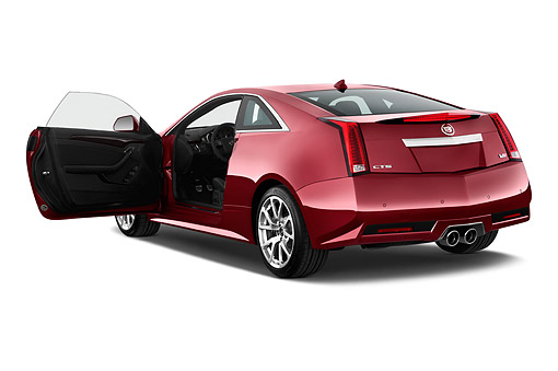 AUT 50 IZ0198 01 © Kimball Stock 2015 Cadillac CTS Coupe V RWD 2-Door 3/4 Rear View In Studio