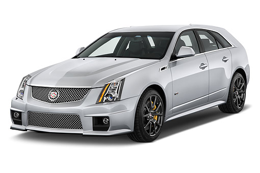 AUT 50 IZ0203 01 © Kimball Stock 2014 Cadillac CTS Sport Wagon V RWD 4-Door 3/4 Front View In Studio