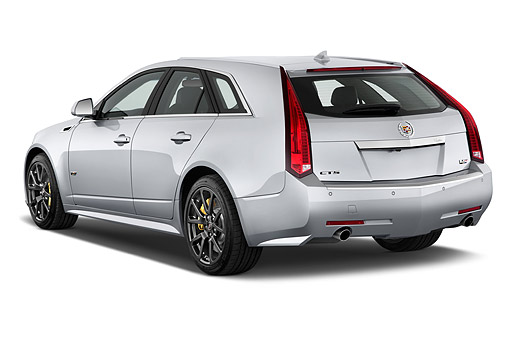 AUT 50 IZ0204 01 © Kimball Stock 2014 Cadillac CTS Sport Wagon V RWD 4-Door 3/4 Rear View In Studio