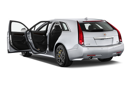 AUT 50 IZ0205 01 © Kimball Stock 2014 Cadillac CTS Sport Wagon V RWD 4-Door 3/4 Rear View In Studio