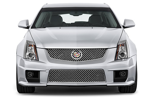 AUT 50 IZ0206 01 © Kimball Stock 2014 Cadillac CTS Sport Wagon V RWD 4-Door Front View In Studio