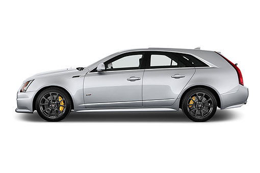 AUT 50 IZ0209 01 © Kimball Stock 2014 Cadillac CTS Sport Wagon V RWD 4-Door Profile View In Studio